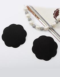 Sexy Black Flower Shape Decorated Magic Bra