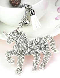 Lovely Silver Color Unicorn&tassel Decorated Ornaments