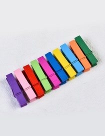 Fashion Multi-color Color Matching Decorated Clips(10pcs)