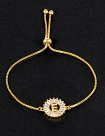 Fashion Gold Color E Letter Shape Decorated Bracelet