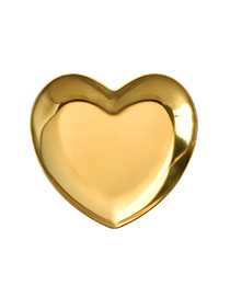 Luxury Gold Color Heart Shape Decorated Storage Tray