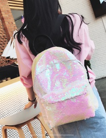 Fashion White Pure Color Decorated Backpack