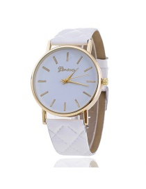 Fashion White Letter Pattern Decorated Simple Watch