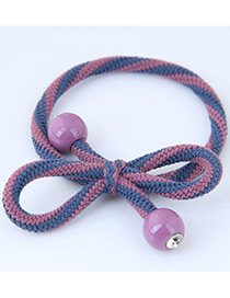 Sweet Pink+dark Blue Bowknot Shape Design Hair Band