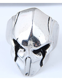 Vintage Antique Silver Skull Shape Design Opening Ring
