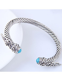 Fashion Silver Color Flower Shape Decorated Bracelet
