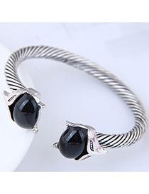 Fashion Black Fox Shape Decorated Bracelet