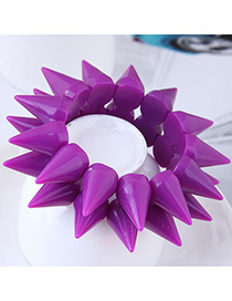 Fashion Purple Rivet Shape Design Pure Color Bracelet