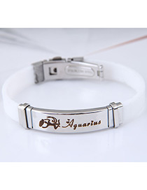 Fashion White Aquarius Shape Pattern Decorated Bracelet