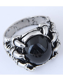 Vintage Black Claw Shape Decorated Ring