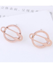 Fashion Rose Gold Hollow Out Design Round Earrings