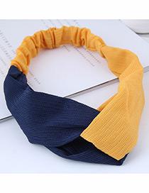 Fashion Yellow Color Matching Decorated Headband