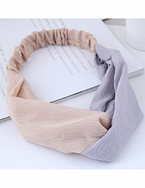 Fashion Beige Color Matching Decorated Headband