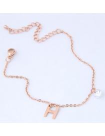 Fashion Gold Color H Letter Shape Decorated Bracelet