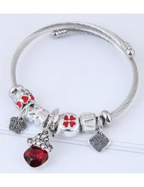 Fashion Red Letter Pattern Decorated Bracelet