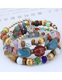 Elegant Multi-color Color Matching Design Beads Bracelet