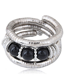 Fashion Black Round Shape Decorated Bracelet