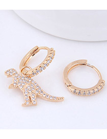Fashion Gold Color Dinosaur Shape Decorated Earrings