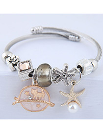 Fashion Gold Color Starfish Shape Decorated Bracelet