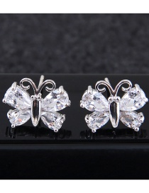 Fashion Silver Color Butterfly Shape Decorated Earrings