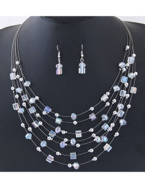 Fashion Multi-color Bead&crystal Decorated Multi-layer Jewelry Set