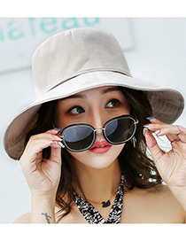 Fashion Beige Pure Color Decorated Hats