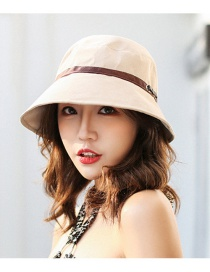 Trendy Beige Washbasin Shape Design Sunshade Hat