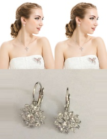 Fashion White Snowflake Shape Design Pure Color Earrings