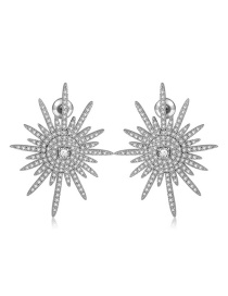 Fashion Silver Color Starfish Shape Decorated Earrings