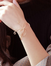 Fashion Gold Color Bowknot Shape Decorated Opening Braceiet