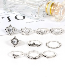 Fashion Silver Color Flower Shape Decorated Jewelry Sets(10pcs)