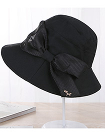 Fashion Black Bowknot Shape Decorated Hat