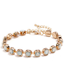 Fashion White Round Shape Decorated Bracelet