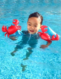 Fashion Red Crab Shape Decorated Children Swimming Arm Ring
