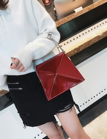 Fashion Claret-red Pure Color Decorated Bag