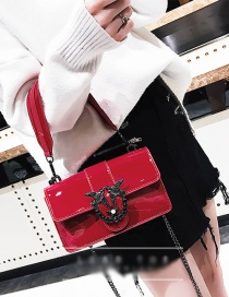 Fashion Red Bird Shape Decorated Square Bag