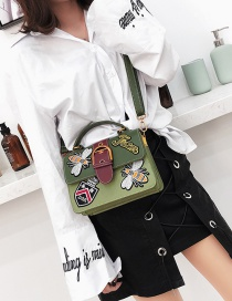 Fashion Green Bee Shape Pattern Decorated Bag