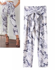 Fashion White Pure Color Decorated Trousers
