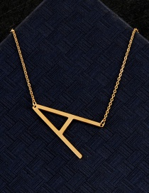 Fashion Gold Color A Letter Shape Decorated Necklace