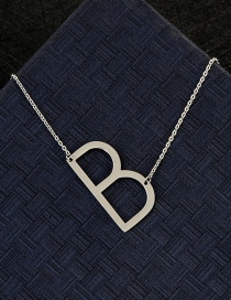 Fashion Silver Color B Letter Shape Decorated Necklace
