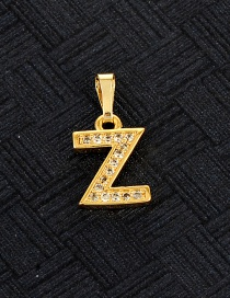 Fashion Gold Color Z Letter Shape Design Pendant