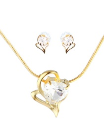 Fashion Gold Color Heart Shape Decorated Jewelry Sets