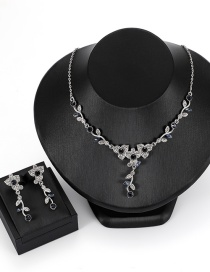 Fashion Silver Color Flower Shape Decorated Jewelry Set( 3 Pcs )