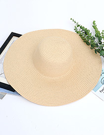 Fashion Beige Pure Color Decorated Hat