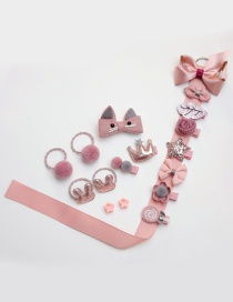Fashion Pink Flower&bowknot Shape Decorated Baby Hair Clip (18 Pcs )