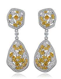 Fashion Multi-color Geometry Shape Decorated Earrings
