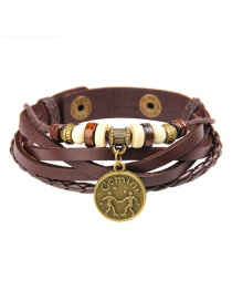 Fashion Brown Gemini Shape Decorated Bracelet