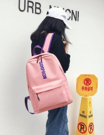 Fashion Pink Letter Shape Decorated Backpack