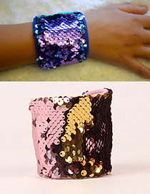 Fashion Gold Color+pink Color Matching Decorated Magic Wrists