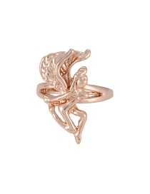 Fashion Gold Color Angel Shape Design Ring